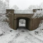 Zierleitenbrücke bei einem Winterspaziergang