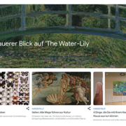 Zeigt einen Ausschnitt von der Google Arts Homepage