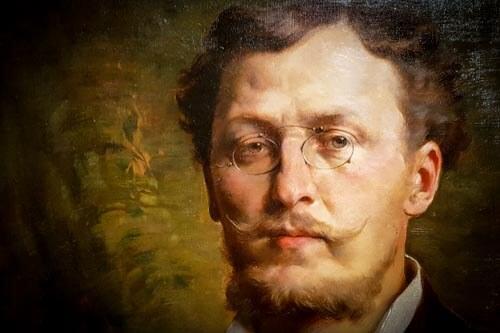 Ausschnitt eines Gemäldes von Otto Wagner